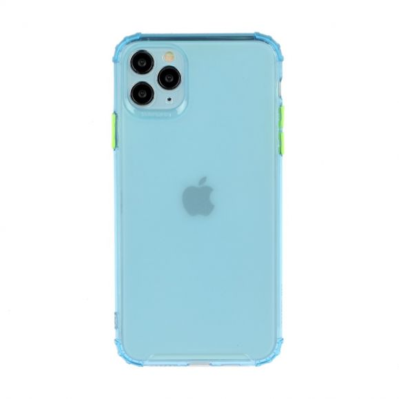 Coque iPhone 11 Pro Max semi transparent avec bouton couleur