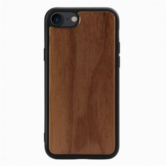 Coque iPhone SE / 8 / 7 premium Bois - Marron Foncé
