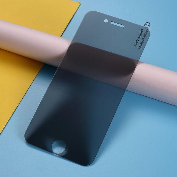iPhone SE / 8 / 7 - Protection d'écran verre trempé et filtre de confidentialité