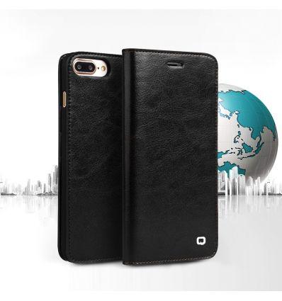 iPhone 8 Plus / 7 Plus - Étui en cuir véritable porte cartes