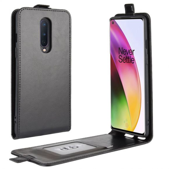 Housse OnePlus 8 simili cuir avec rabat verticale
