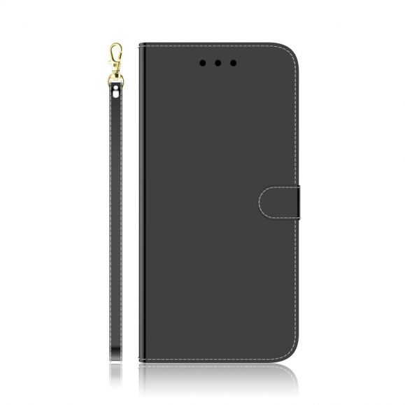 Housse Huawei P40 Pro simili cuir effet miroir - Noir