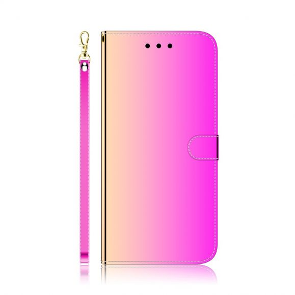 Housse Huawei P40 Pro simili cuir effet miroir - Rose