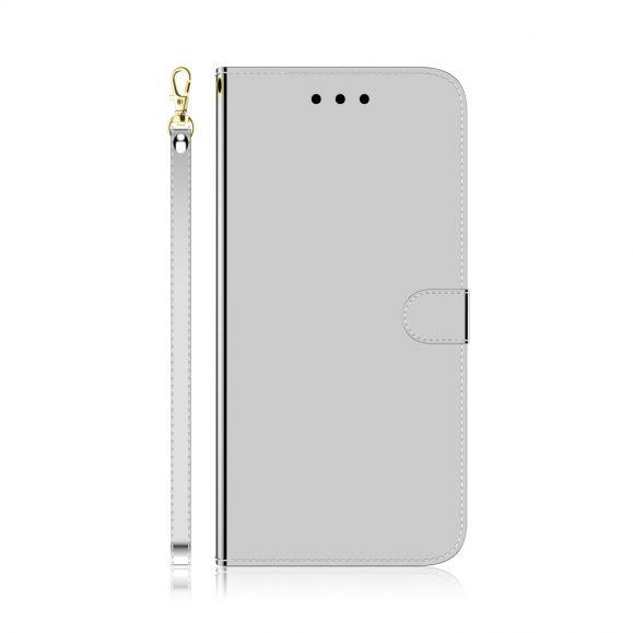 Housse iPhone XS / X simili cuir effet miroir