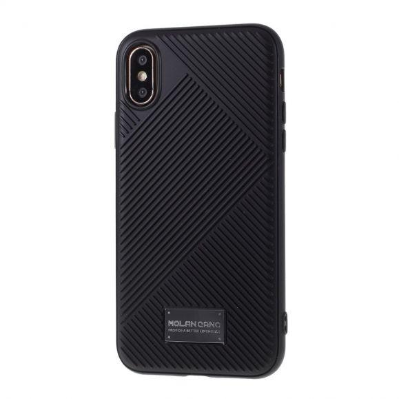 Coque iPhone XS / X MOLAN CANO Effet Strié