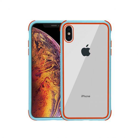 Coque iPhone XS / X Transparente Contour Colorés