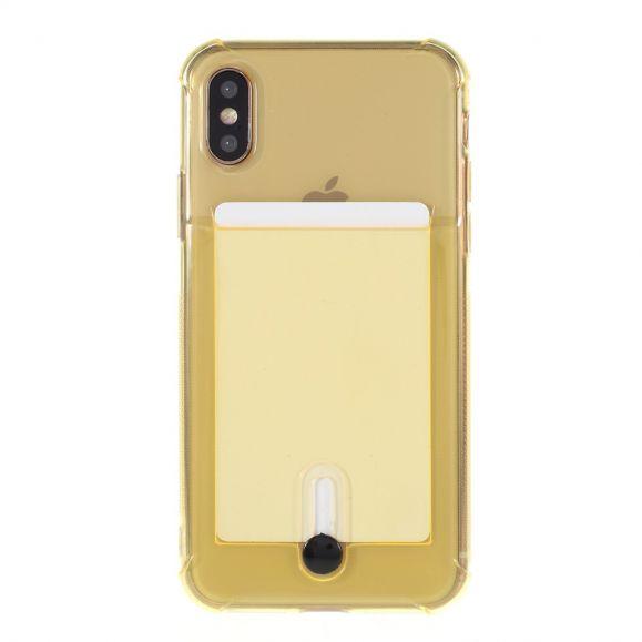 Coque transparente iPhone X / XS porte carte