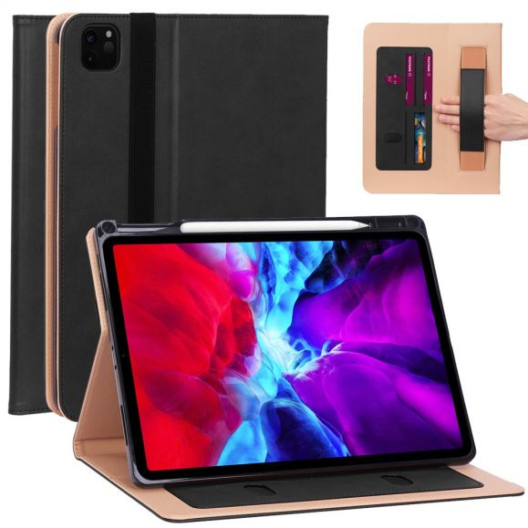 Housse iPad Pro 12.9 (2020) simili cuir avec anse