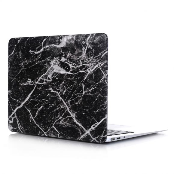 Coque MacBook Pro 16 pouces Motif Marbre - Noir
