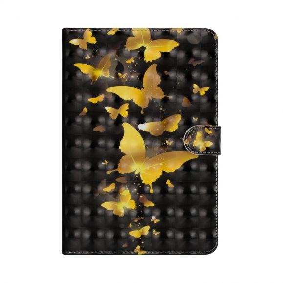 Housse Samsung Galaxy Tab S6 Papillons Dorés