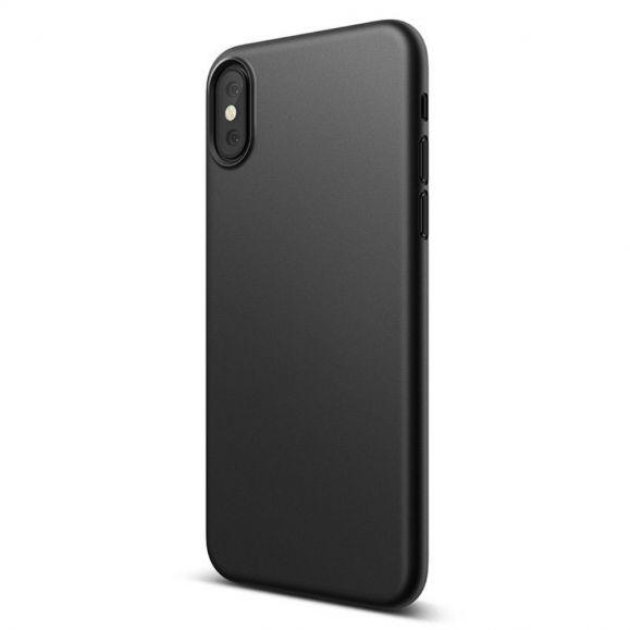 Coque iPhone XS / X revêtement mat en Gel - Noir