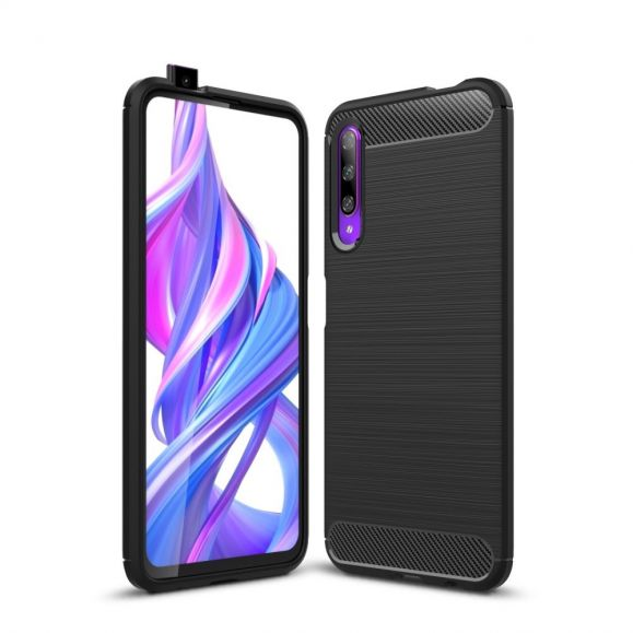 Coque Honor 9X Pro Janice en Gel Brossé Carbone