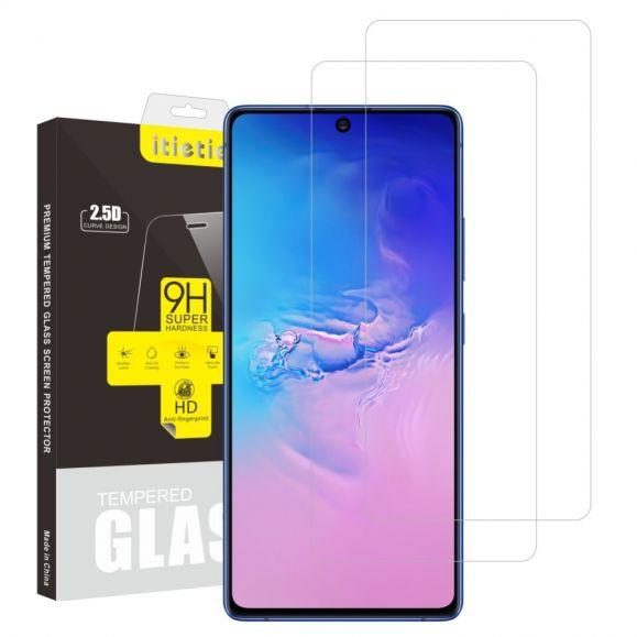 Films en verre trempé pour Samsung Galaxy S10 Lite (2 pièces)