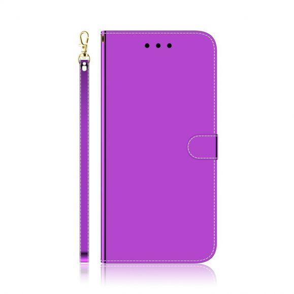 Housse Samsung Galaxy S10 Lite simili cuir effet miroir