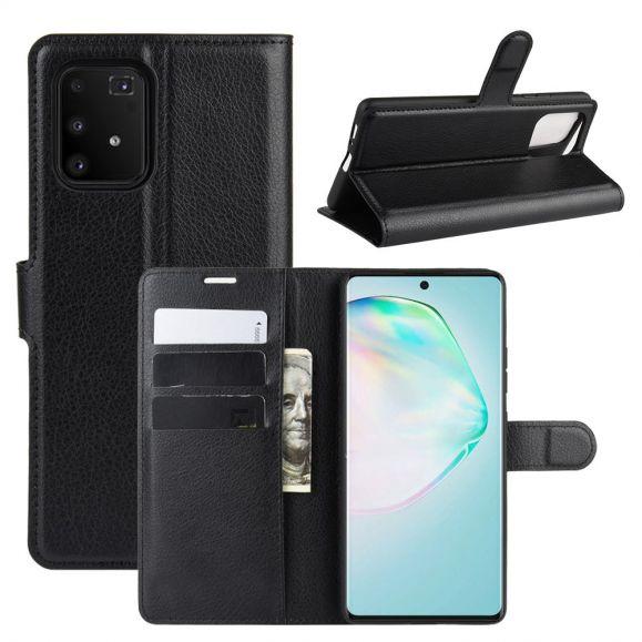 Housse Samsung Galaxy S10 Lite effet cuir portefeuille