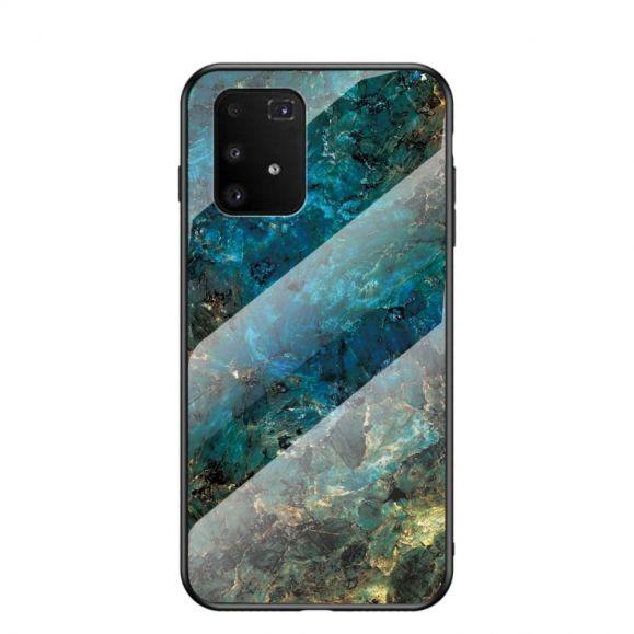 Coque Samsung Galaxy S10 Lite Marbre Océane dos en verre