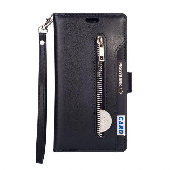 Housse Huawei P40 Pro portefeuille simili cuir à lanière