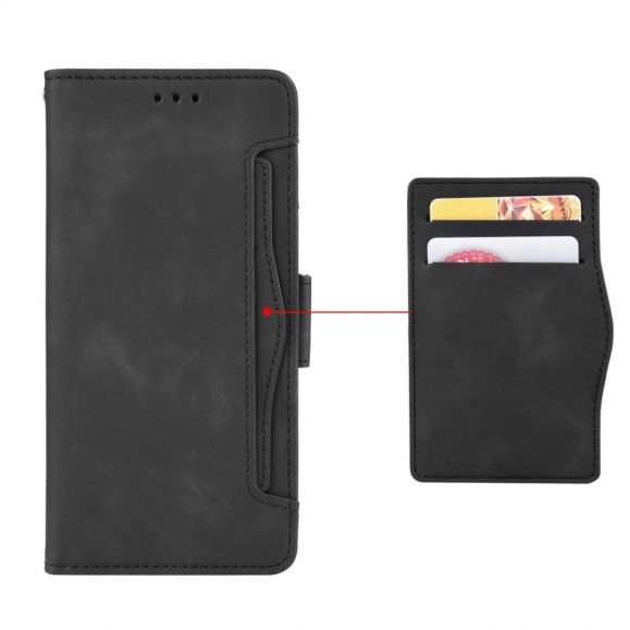 Housse Samsung Galaxy S10 Plus effet cuir + porte cartes
