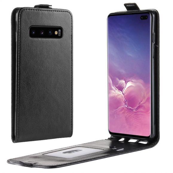 Étui Samsung Galaxy S10 Plus simili cuir avec rabat verticale
