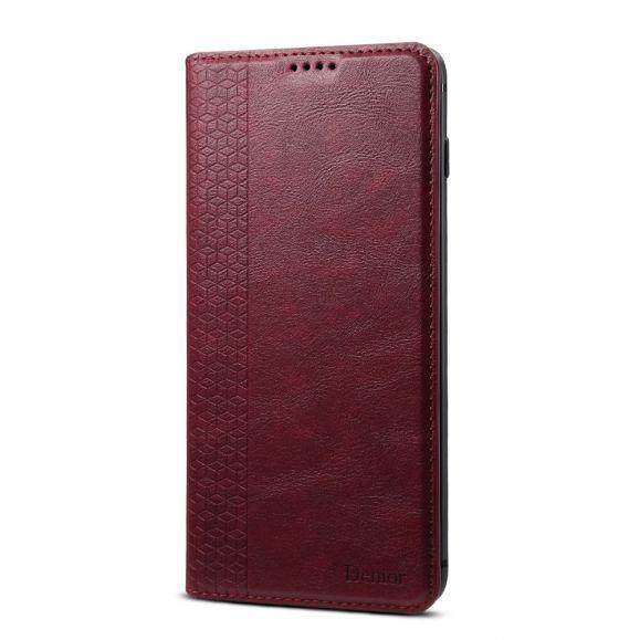 Housse Samsung Galaxy S10 Plus Denior Chic - Vin Rouge