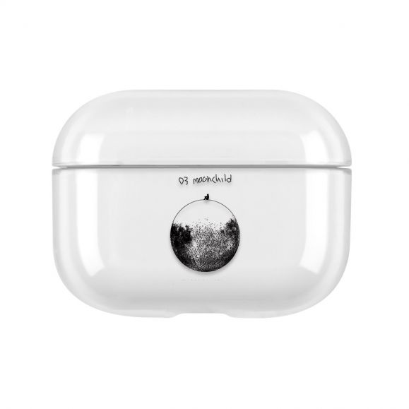 Coque AirPods Pro Transparente Moon Child