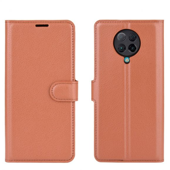 Housse Xiaomi Poco F2 Pro portefeuille style cuir