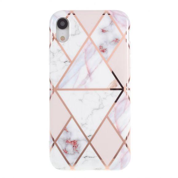Coque iPhone XR Marbre Géométrique