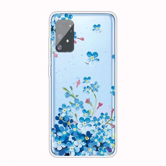 Coque Samsung Galaxy S10 Lite Fleurs Bleues