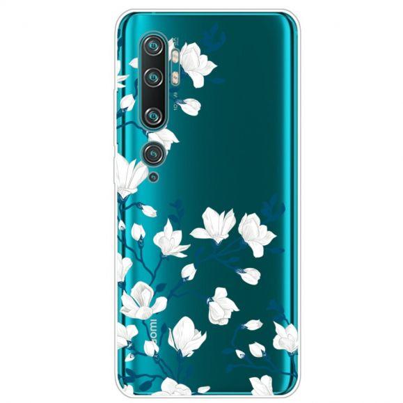Coque Xiaomi Mi Note 10 / Note 10 Pro fleurs blanches