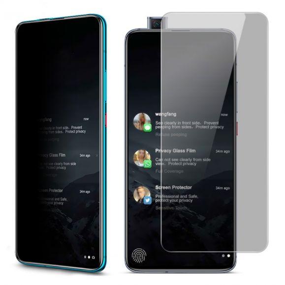 Protection d'écran Xiaomi Poco F2 Pro verre trempé et filtre de confidentialité