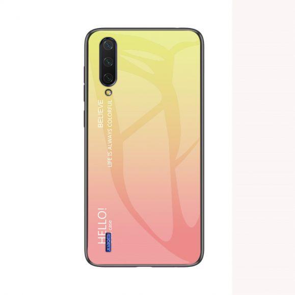 Coque Xiaomi Mi A3 dos en verre dégradé de couleurs