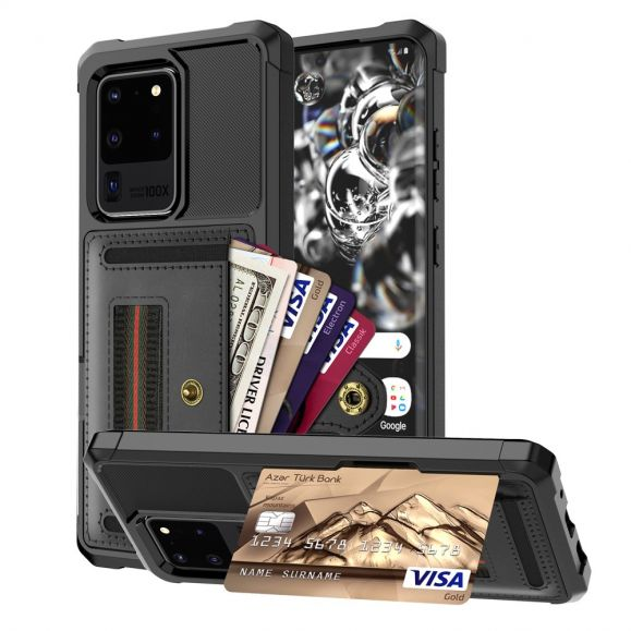 Coque Samsung Galaxy S20 Ultra Porte Cartes Fonction Support