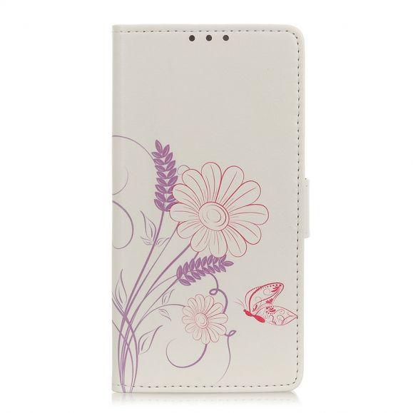 Housse Honor 9X Lite Illustration Fleurs et Papillon