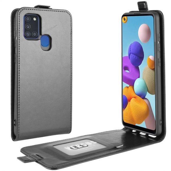 Housse Samsung Galaxy A21s simili cuir avec rabat verticale