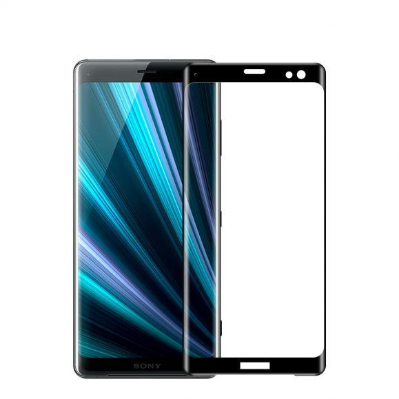 Protection d'écran Sony Xperia XZ3 en verre trempé full size - Noir