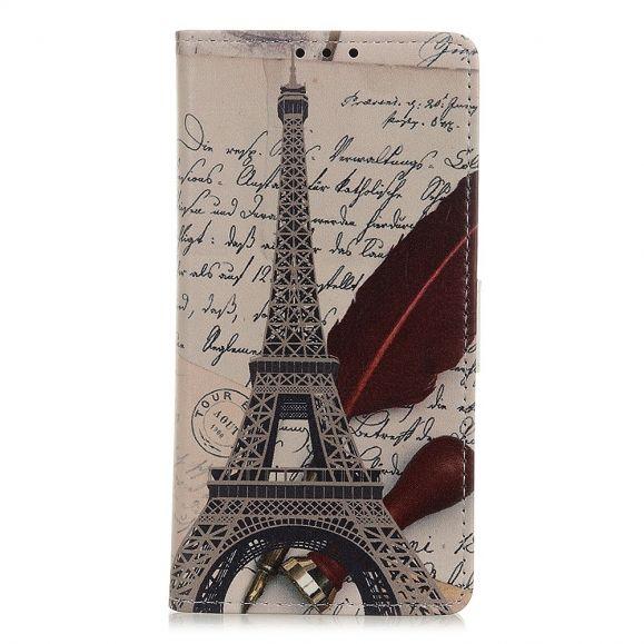 Housse Xiaomi Redmi 9 Tour Eiffel et lettre