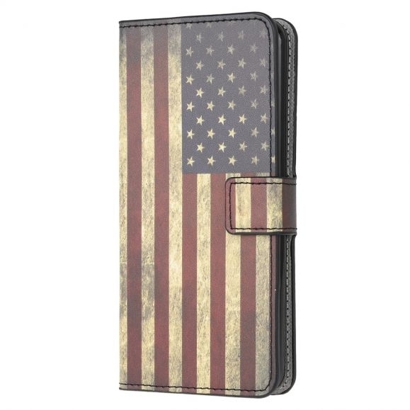 Housse Huawei Y5p drapeau Américain Vintage
