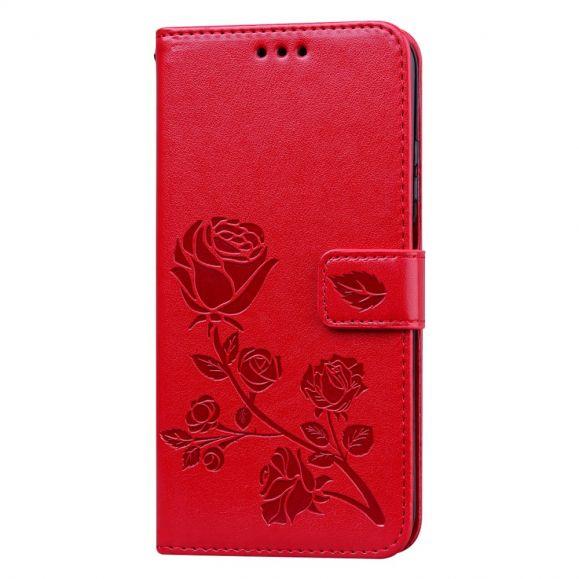 Housse Huawei P40 lite E Rose en Relief