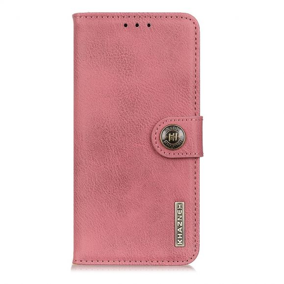 Housse Xiaomi Redmi 9 KHAZNEH Effet Cuir Porte Cartes - Rose