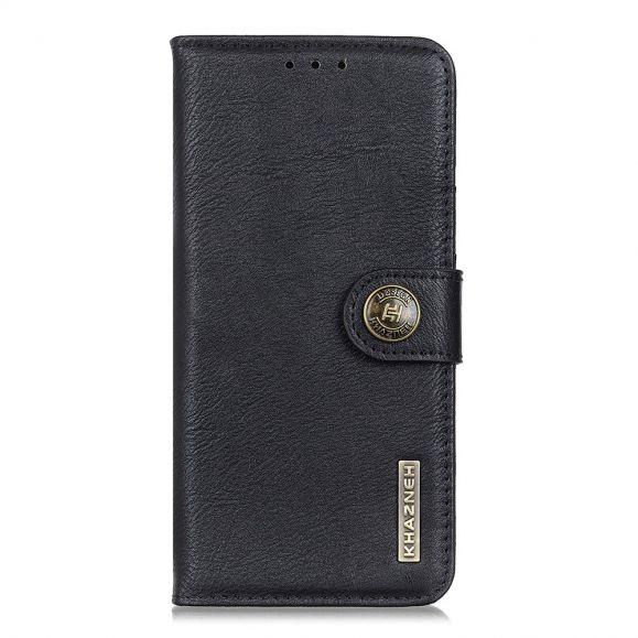 Housse Xiaomi Redmi 9 Effet Cuir KHAZNEH - Noir