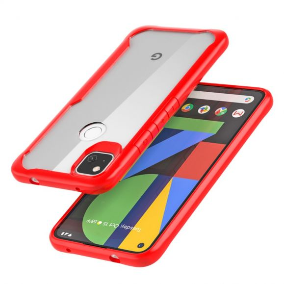 Coque Google Pixel 4a Transparent Contour Rouge