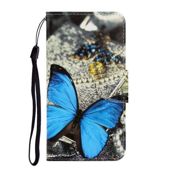 Housse Huawei Y6p Papillon Bleu