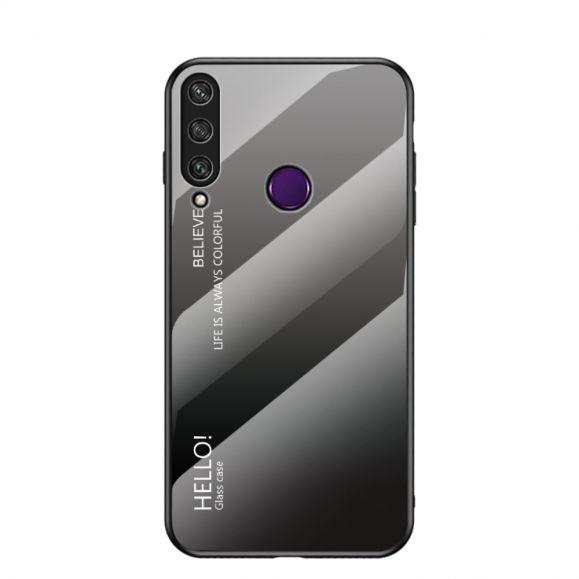 Coque Huawei Y6p dos en verre dégradé de couleurs