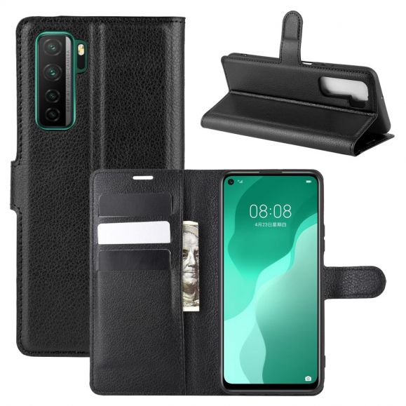Housse Huawei P40 Lite 5G portefeuille style cuir