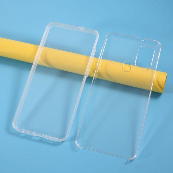 Coque Samsung Galaxy A21s transparente intégrale (2 pièces)