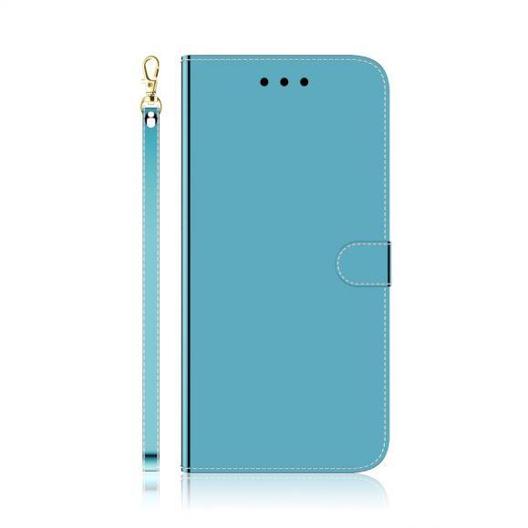 Housse Huawei Y6p simili cuir effet miroir