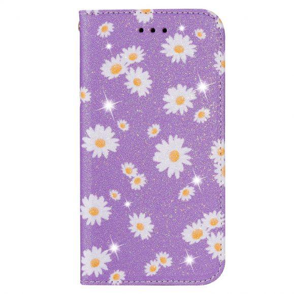 Housse Samsung Galaxy A51 5G Marguerites - Violet