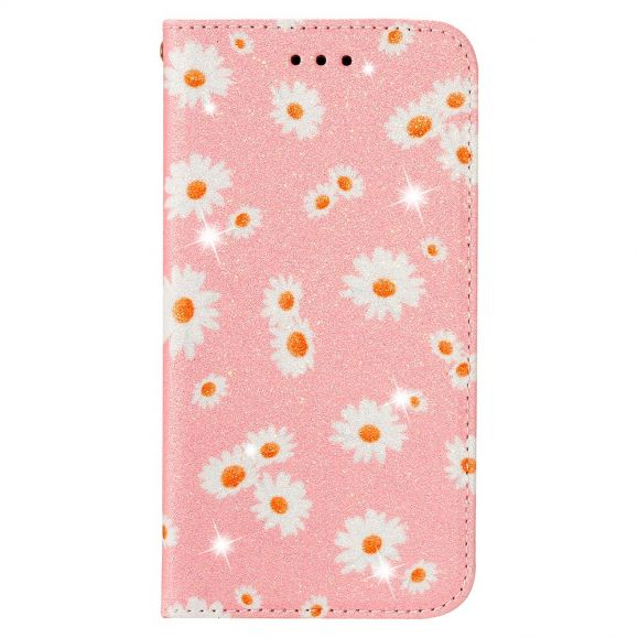 Housse Samsung Galaxy A51 5G Marguerites - Rose