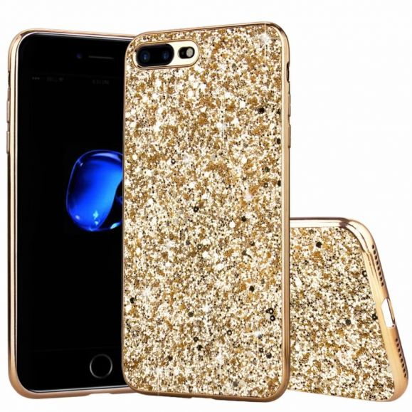 Coque iPhone SE 2 / 8 / 7 paillettes glamour