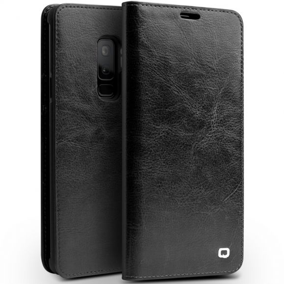 Étui Samsung Galaxy S9 Plus en cuir véritable porte cartes